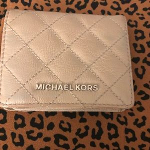 Michael Kors Leather Quilted Wallet.
